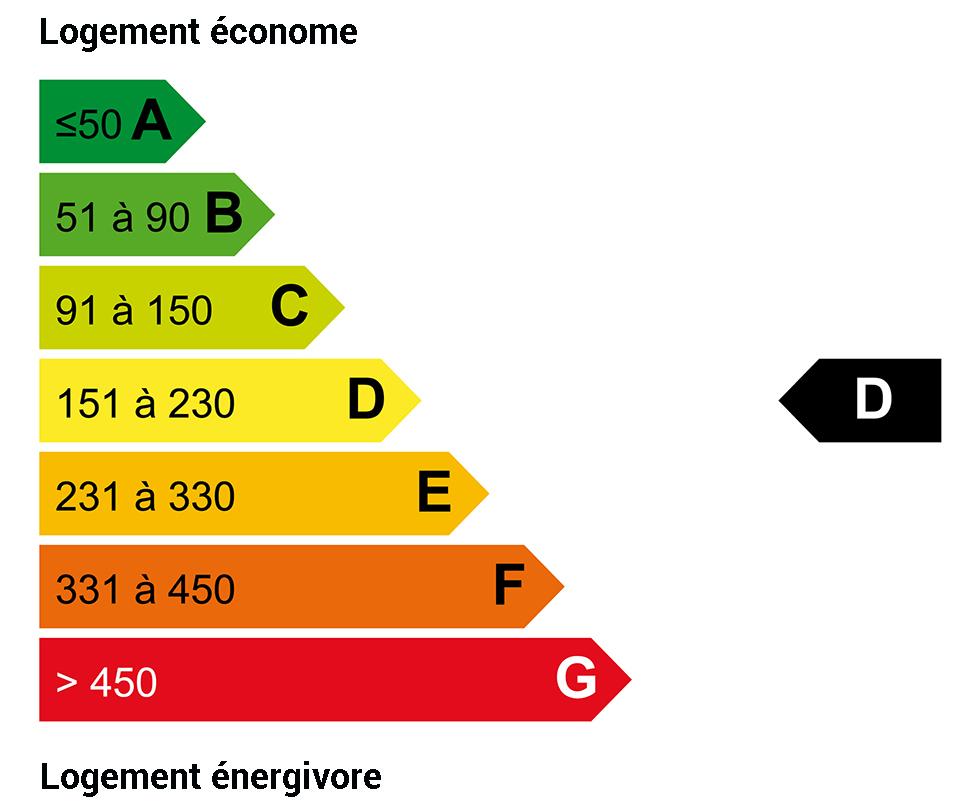 DPE énergie : D